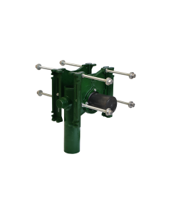 """Josam 14444 Carrier - Vertical Double Close with 4 Inch Offset, No-Hub Back-to-Back with 2"""" Auxiliary Inlet"""