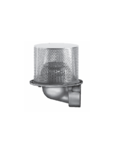 """Smith 1950 8 1/2"""" Diameter Side Outlet Planter Drain with Low Profile Dome"""