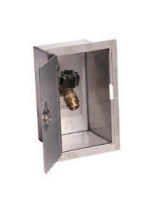 """Smith 5572, 1/2"""" Inlet, Mild Climate, Anti-Siphon Sillcock and Stainless Steel Box"""