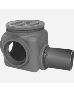 """Smith 7097 Drain Tile Sump with 4"""" Tile Inlet & Spigot Outlet"""