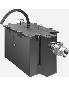 """Smith 8010GT Steel Grease Interceptors with Semi-Automatic Draw-Off for Recessed Installation - 10 GPM Flow Rate - 2"""" Inlet and Outlet Size"""