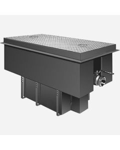"""Smith 8350GT Steel Grease Interceptors with Semi-Automatic Draw-Off and Receiving Cradle - 50 GPM Flow Rate - 3"""" Inlet and Outlet Size"""