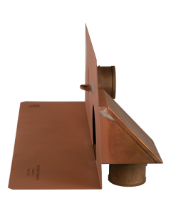 Thunderbird Copper In Wall/Scupper Drain with Overflow