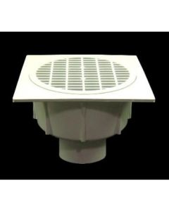 "4"" Floor Sink With Aluminum Beehive Strainer"
