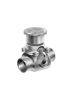 MIFAB BV1200-R Cast Iron Backwater Valve with Floor Level Nickel Bronze Access Cover