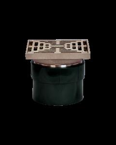 Josam FD-450J-S Lite Line - PVC Floor Drain with Adjustable Round Nikaloy Strainer