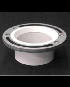 Full Flow Closet Flange With Aluminum Ring