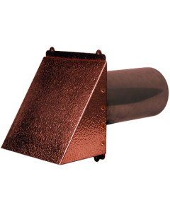 Hammered Copper Wall Dryer / Exhaust Vent
