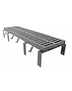 """MIFAB T1200 (-F) 12"""" x 24"""" Trench Drain Grate with Optional """"F"""" Angle Frame"""