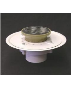 "3"" Over Pipe Fit Heavy Duty Adjustable Floor Drain with 6'' Strainer"