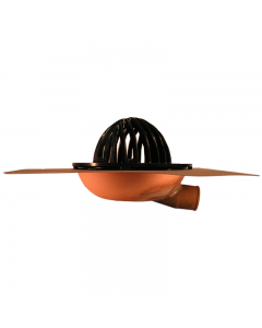 Thunderbird Copper Side Outlet Drain