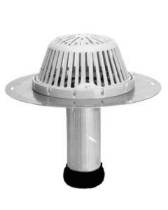 "Portals Plus 2"" Aluminum ReRoof Drain w Plastic Dome Rubber Seal"
