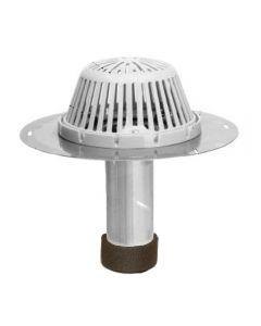 "Portals Plus 2"" Aluminum ReRoof Drain w Plastic Dome and Tape Seal"