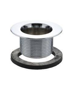 Chrome Plated Strainer with Tub Gasket