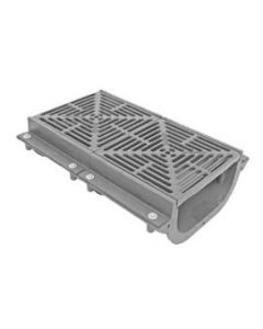 MIFAB T1350-FL 12 1/4'' x 12'' Cast Iron Trench Drain with Anchor Flange