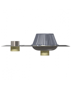 Thunderbird Stainless Steel Bottom Outlet Drain with Overflow