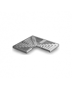 """MIFAB T1150-(F) 12"""" x 12"""" Trench Drain Grate with Optional """"F"""" Angle Frame"""