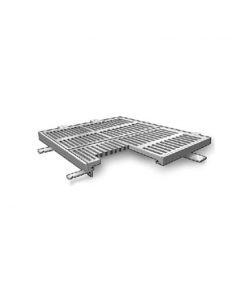 MIFAB T1200-F2 24 1/2″ x 24 1/2″ Trench Drain Grate and Frame Assembly