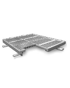 """MIFAB T1200 F2 24 1/2"""" x 24 1/2"""" Trench Drain Grate and Frame Assembly"""