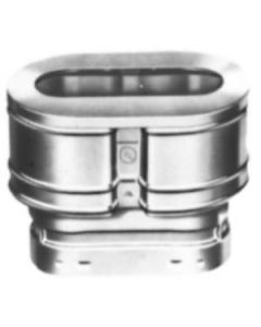 "4"" Vent Pipe Oval Cap"