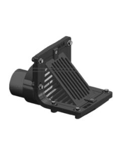 MIFAB BV1210 Cast Iron Angle Pit Drain with Backwater Valve