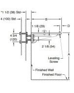 Smith 0770 Lavatory Support with Arc Exposed Arms Wall Mounted Type for Flat Slab and High Back Lavatories