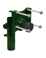 """Josam 14424 Carrier - Vertical Single Close with 4 Inch Right Hand Offset, No-Hub with 2"""" Auxiliary Inlet"""