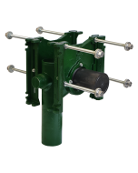 """Josam 14444 Carrier - Vertical Double Close with 4 Inch Offset, No-Hub  with 2"""" Auxiliary Inlet"""