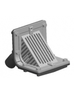 MIFAB R1310 Scupper Drain with Angle Grate and 45 Degree Outlet