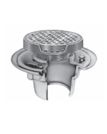 Smith 2010 (-E) Floor Drain and Adjustable Strainer with Round Reinforced Grate