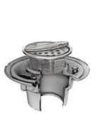 Smith 2005 (-H) Floor Drain and Adjustable Strainer with Round Solid Hinged Cover