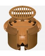 """Smith 2241 Deep Body Medium Duty Floor Drain with 12"""" Round Grate and Solid Free Standing Sediment Bucket"""