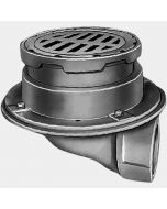 """Smith 2355 Floor Drain with 8 1/2"""" Round Adjustable Top and """"Safe-Set"""" Sediment Bucket"""