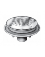 """Smith 2500 Flushing Type Laboratory and Institutional Drain with 11 1/2"""" Top and Hinged Perforated Grate"""