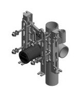 Wade 330XH-A1 Vertical, Adjustable Water Closet Support - No-Hub (750Lb. Rating)