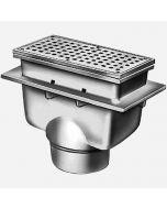 Smith 3320 Sani-Ceptor ARC Floor & Indirect Waste Drains, Deep Receptor, Rectangular Nickel Bronze Top