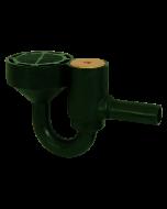 "Josam 38040 Floor Drain - 8"" Diameter Cast Iron Top with Integral Trap & Flush Floor Cleanout - No-Hub Outlet"
