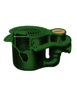 "Josam 38420 Floor Drain - 14"" Diameter Cast Iron Grate Integral Trap, Flush Floor Cleanout & Bucket"