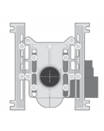 MIFAB MC-10-27 Horizontal Adjustable Water Closet Carrier with Auxillary 2'' Inlet (For Siphon Jet and Blowout Toilets)