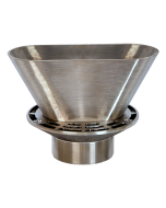 Josam 3000-E3 Floor Drain with Round Strainer and Oval Funnel