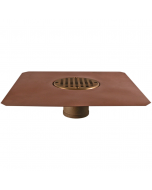 "Thunderbird Copper Bowl Deck Drain with 4"" Bowl"