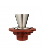 """Mifab F1100-C-EF Floor Drain with Round Adjustable Strainer and 4"""" Funnel"""