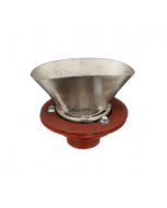 """MIFAB F1100-C-EG Floor Drain with Round Strainer and 4"""" x 9"""" Elongated Funnel"""