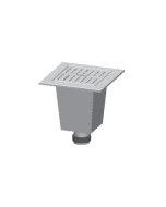 """MIFAB FS2000 12"""" x 12"""" x 10"""" Replacement Stainless Steel Floor Sink Liner"""