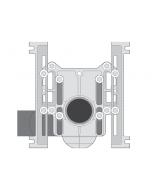 MIFAB MC-10-HDX 1,000 LBS Extra Heavy Duty Horizontal Adjustable Water Closet Carrier
