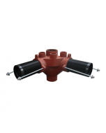 MIFAB MC-27 90 Degree Single Stack Fitting for Floor Mounted Back Outlet Water Closet
